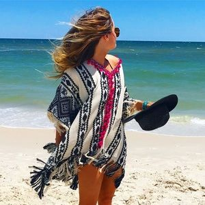 Other - Jacquard Poncho or Beach Cover-up